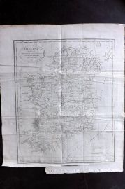 Lyttleton 1811 Antique Map. Ireland divided into Provinces and Counties by J. Russell